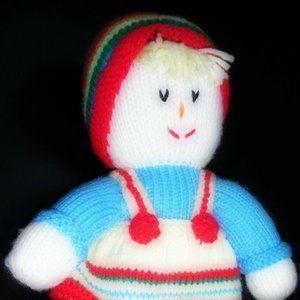EUC Handmade Crochet knit Plush Doll
